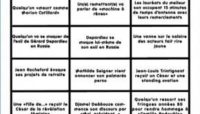 le bingo officiel de la soire des csars