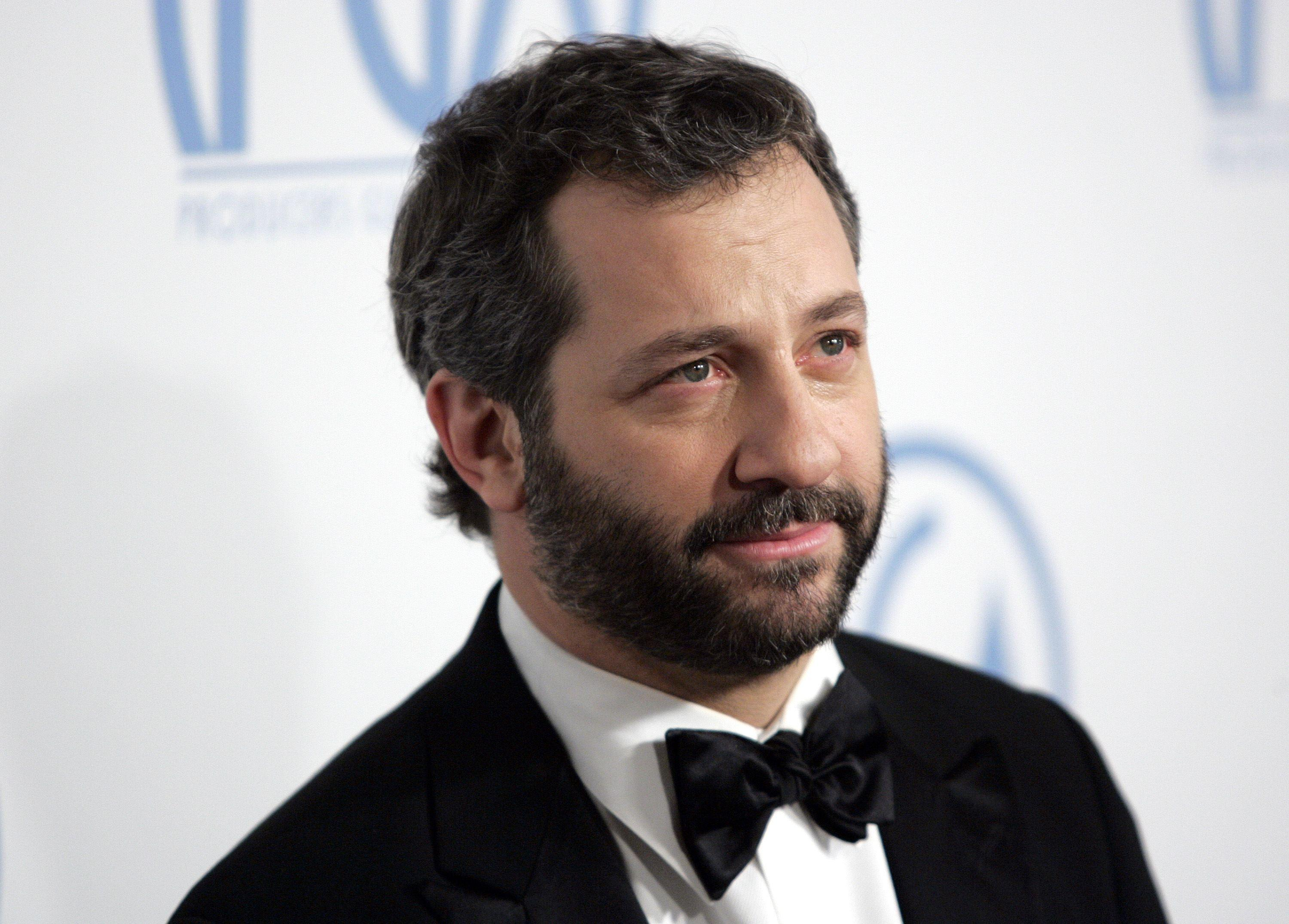 Producer Judd Apatow arrives at the Producers Guild Awards at the Beverly Hilton Hotel in Beverly Hills, California.
