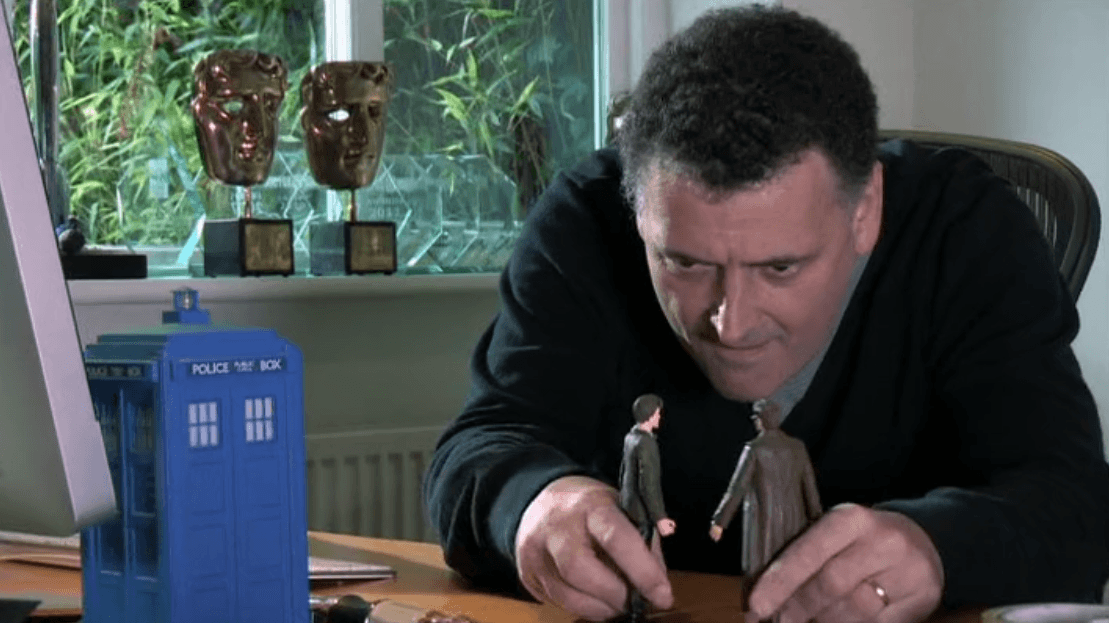 Steven Moffat plays with dolls