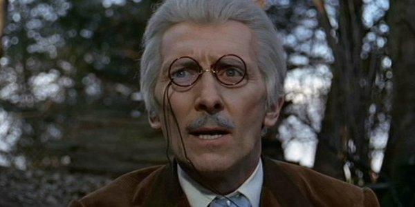 Peter Cushing as the Dr.