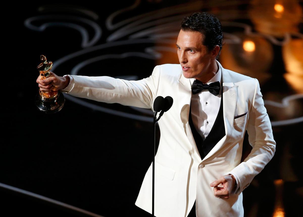 [L'image de l'année] Matthew McConaughey brandissant son Oscar