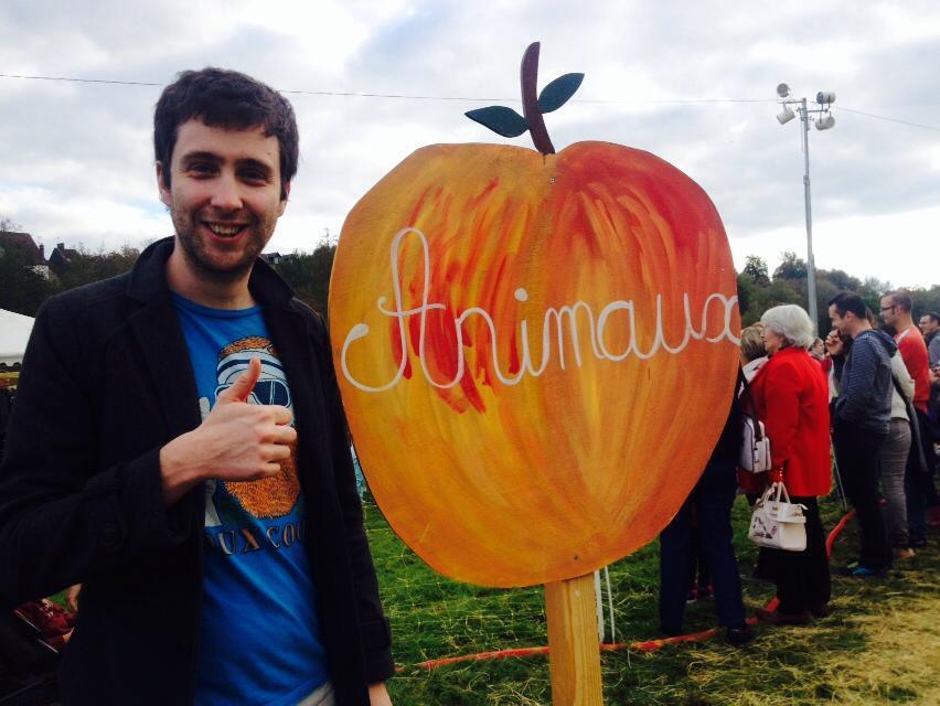 Moi à la fête de la pomme de l'an dernier