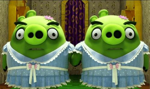 Des cochons verts, tout droit sortis de Shining : l'une des rares fois où l'on rit. Vénère.